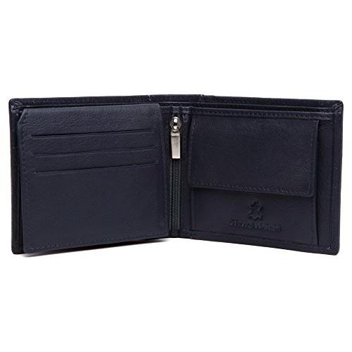 WildHorn Blue Bi Fold Genuine Leather Wallet