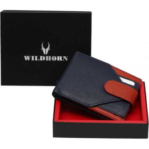 WildHorn Men Blue Genuine Leather Wallet