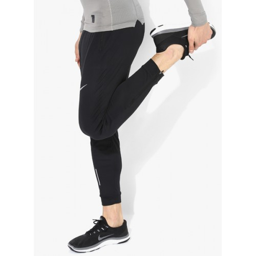Nike As Essntl Knit Black Running Tights