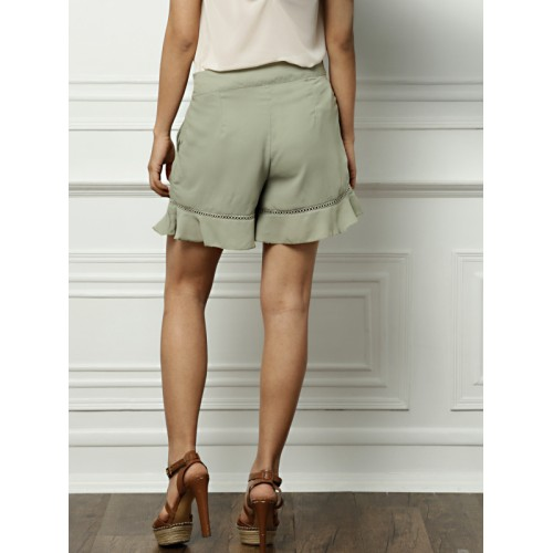 all about you from Deepika Padukone Women Grey Solid Regular Fit Shorts