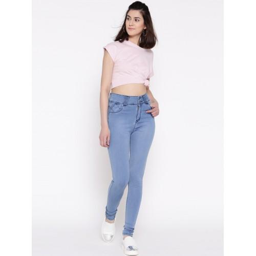 Devis Women Blue Slim Fit High-Rise Stretchable Jeans