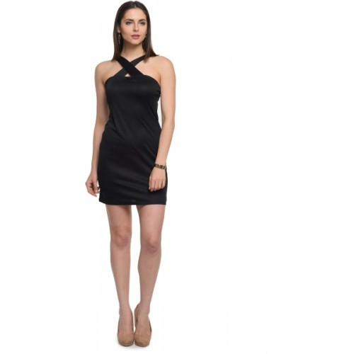@499 Women's Sheath Black Dress