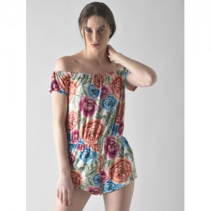 FOREVER 21 Multicoloured Printed Playsuit