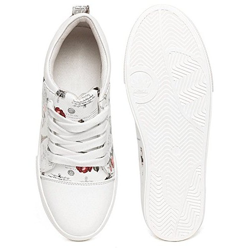 Maddy Perfect Premium White Synthetic Leather Casual Shoes