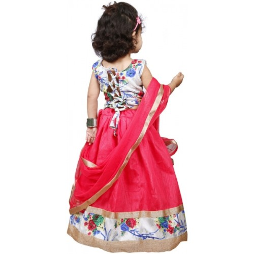 NAJARA FASHION Red Cotton Silk Printed Lehenga
