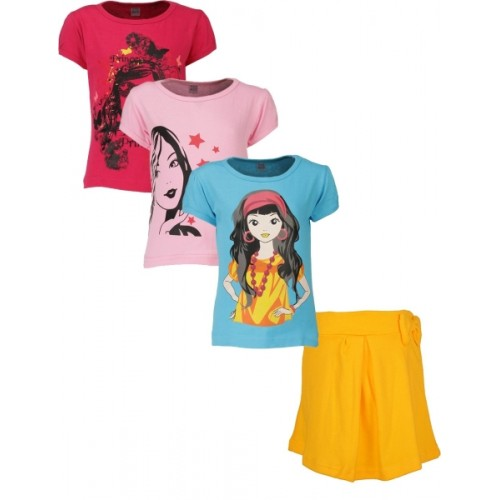 Gkidz Girls Casual T-shirt Skirt