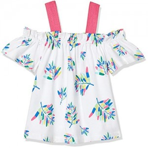 United Colors of Benetton Girl's Floral Regular Fit T-Shirt