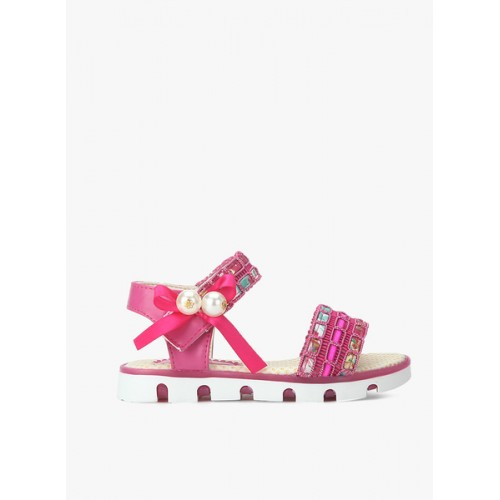 Kittens Girls Pink Embellished Sandals