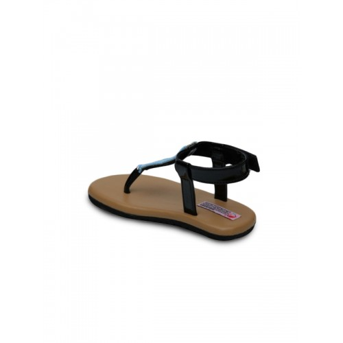 DChica Girls Brown & Black Comfort Sandals
