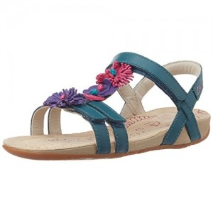 Clarks Girl's Rio Flower Jnr Aubergine Le Fashion Sandals