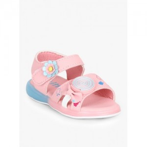 Kittens Girls Pink Printed Comfort Sandals