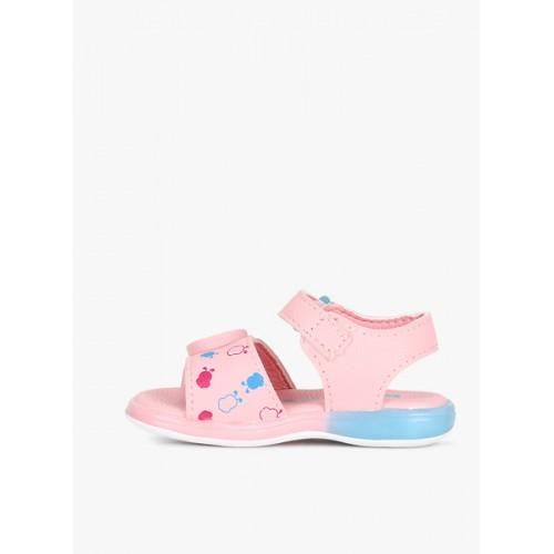 Kittens Girls Pink Printed Comfort Sandals
