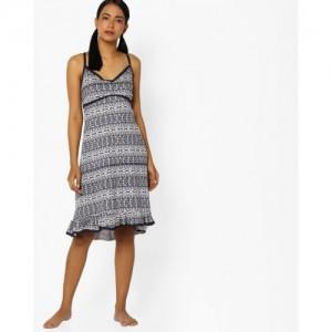 Slumber Jill Aztec Print Nightdress with Trims