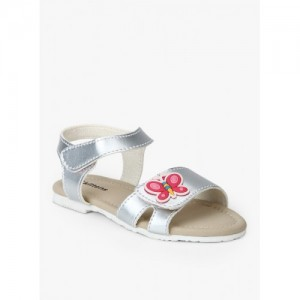 Kittens Silver Metallic Sandals