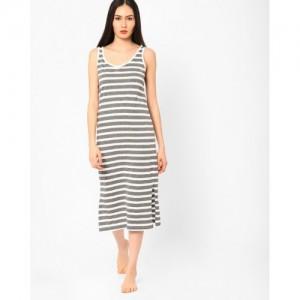 Slumber Jill Striped Sleeveless Nightdress