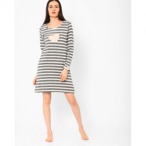 Slumber Jill Striped Night Dress
