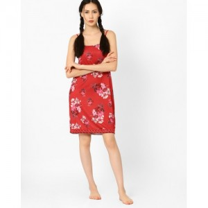 AJIO Floral Print Nightdress