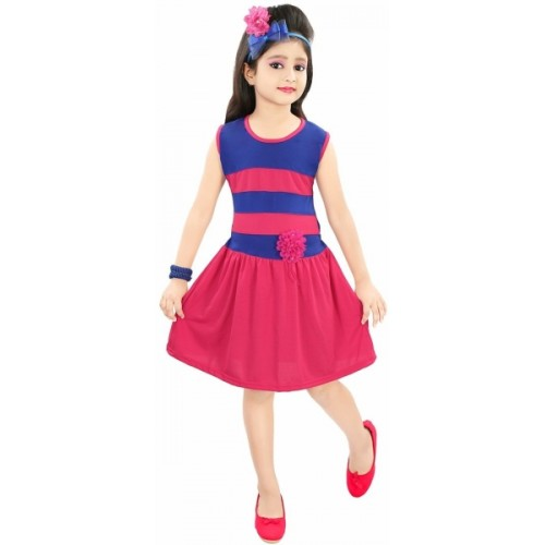 Buy Style Junction Girls Midi Knee Length Casual Dress online ... 8d6087eeb02b