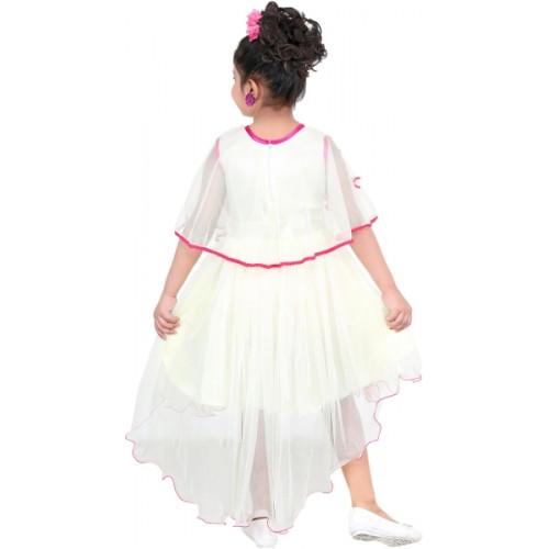 KAARIGARI Girls Midi/Knee Length Party Dress