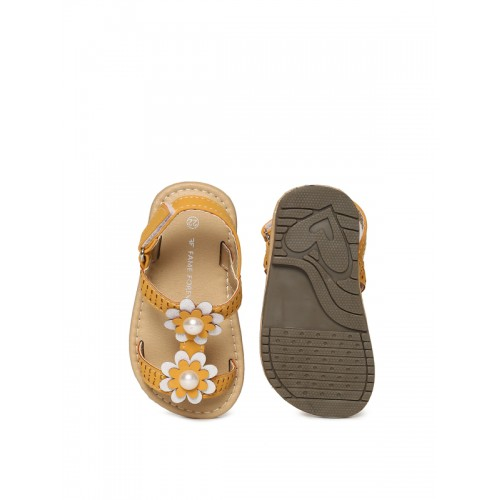 Fame Forever by Lifestyle Girls Brown Comfort Sandals
