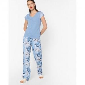 Heart 2 Heart Lace Top and Printed Pyjama Set