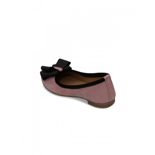 DChica Girls Pink Solid Synthetic Ballerinas