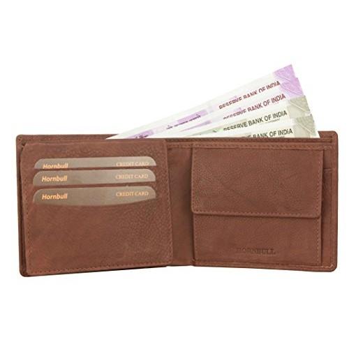 Hornbull Brown Genuine Leather Wallet