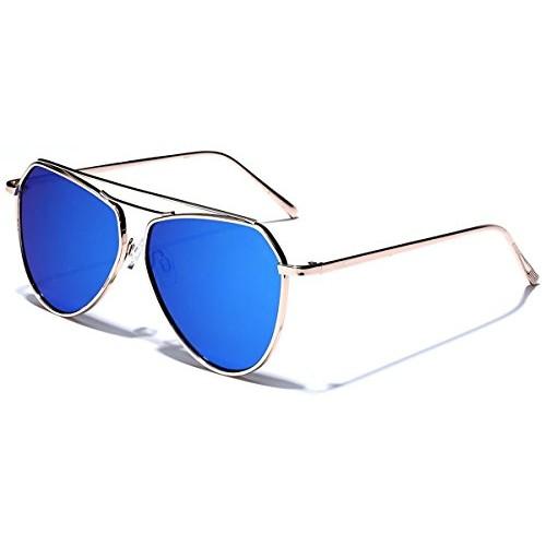 d9f4ad7fddc ... U.S. CROWN Full Metal Frame Mirror Lens UV Protection Aviator Sunglasses  ...