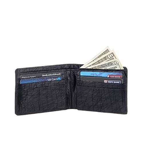 Laurels Hornet Black Men's Wallet (Lw-Hrnt-02)