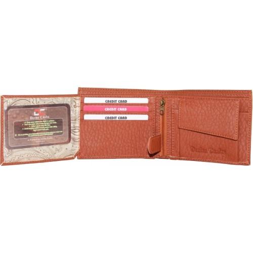 Dezire Crafts Tan Artificial Leather Men's Wallet