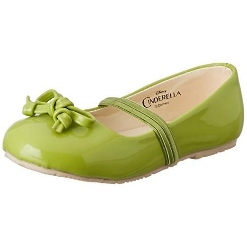 Disney Girl's Green Synthetic Ballerina Ballet Flats