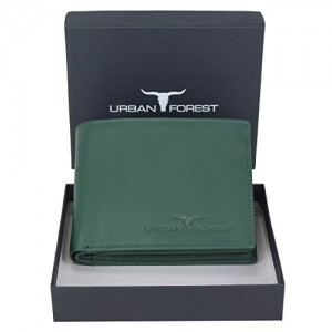 Urban Forest KEVIN Green Leather Wallet