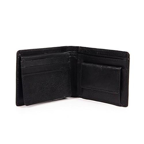 Walletsnbags Neo Emboss Oil Pullup Men's Wallet,Black