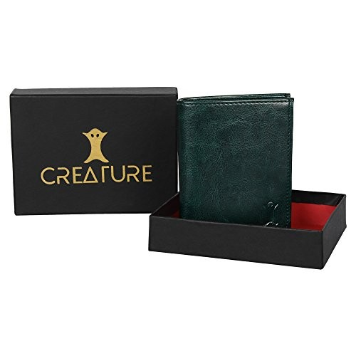 Creature Bi-Fold Green Pu-Leather Wallet for Men/Boys With Multiple Card Slots(Colour-Green  WL-037)