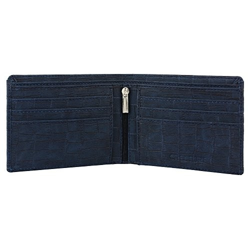 Creature Embossed Blue PU Leather Wallet for Men with Zip(Colour-Blue || WL-008 || 6 Card slots)