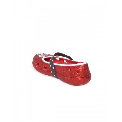 c3302419c67349 Buy Crocs Girls Red Solid Synthetic Ballerinas online