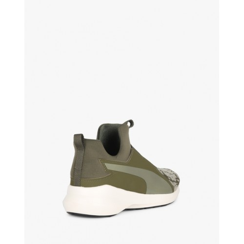 ce2a6044c9f Buy Puma Panelled Green Mesh Slip-On Shoes online