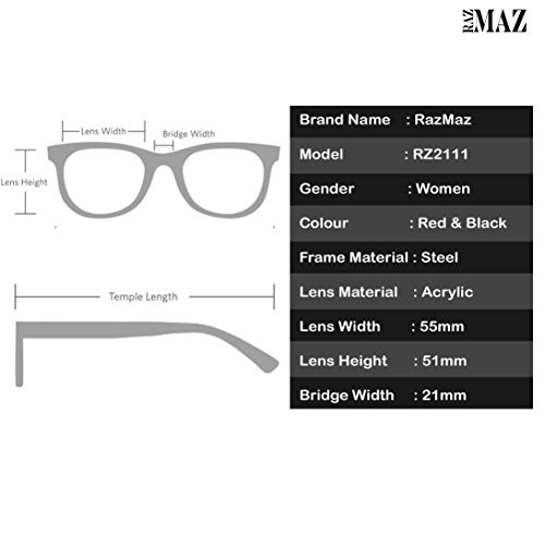 RazMaz Brand Vintage Cat-Eye Frames Round Sun-Glasses For Women Stylish Mirror UV Protected Sunglasses