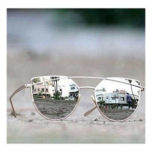a9dc1af2f8 Younky Unisex UV Protected Cateye Stylish Silver Mercury Sunglasses For Men  Women Boys   Girls (