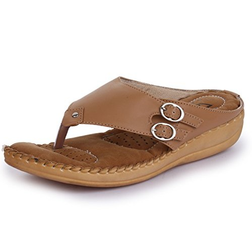 Trase Dr - Plus Tan / Beige / Cherry / Black Ortho Slippers for Women ( With Comfortable Doctor Sole)