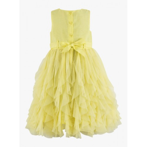 Toy Balloon Kids Yellow Fit and Flare Dress