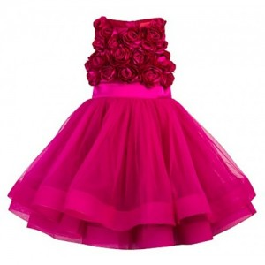 Meia for girls Pink Roses girls party dress