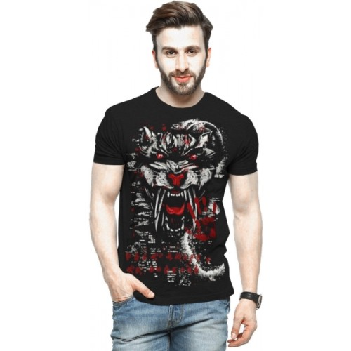 c4c43e5956 Buy Tripr Printed Men Round Neck Black T-Shirt online | Looksgud.in