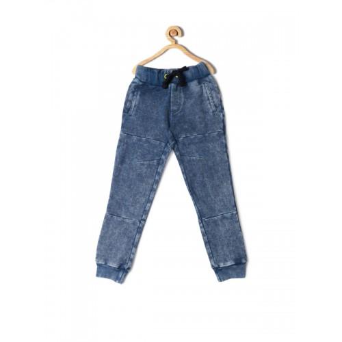 1f80d91f6b4 Buy Allen Solly Junior Boys Blue Regular Fit Solid Joggers online ...