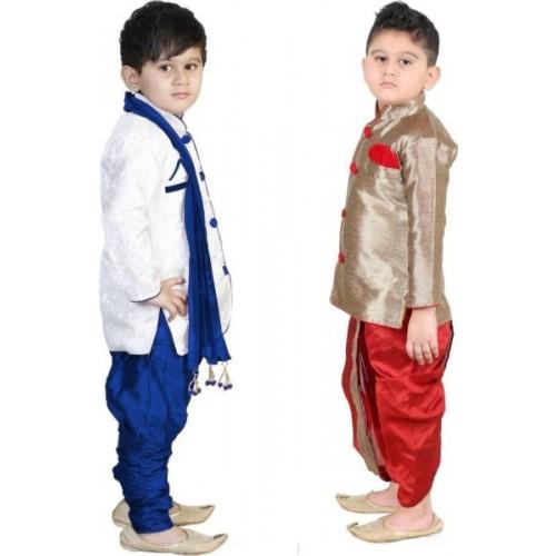 711852aff ... Dupatta Set; FTC FASHIONS Boys Festive & Party Kurta, Dhoti Pant &  Dupatta ...