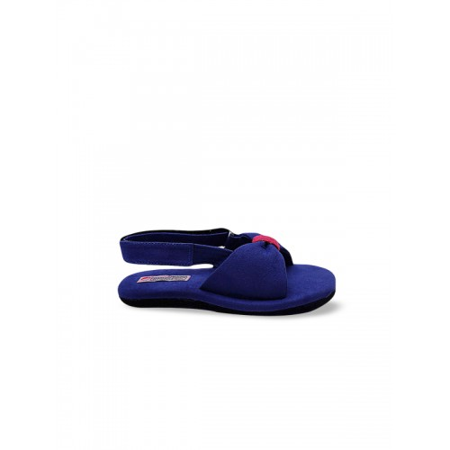 DChica Girls Blue Solid Suede Open Toe Flats Chappals