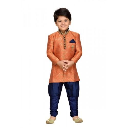 AJ Dezines Boys Festive & Party Sherwani and Churidar Set