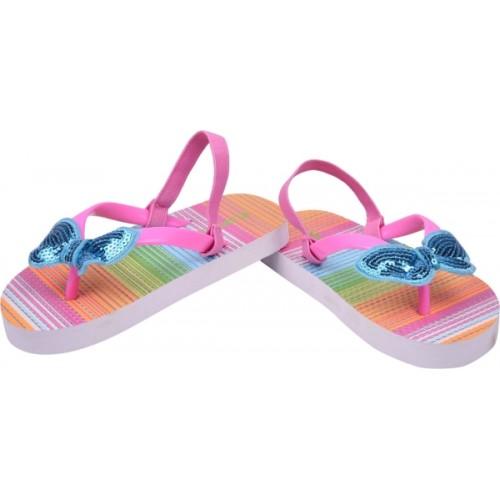 Flipside Girls Pink Rubber Slipper Flip Flop