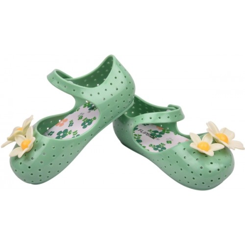 Flipside Green Rubber Girls Slipper Flip Flop