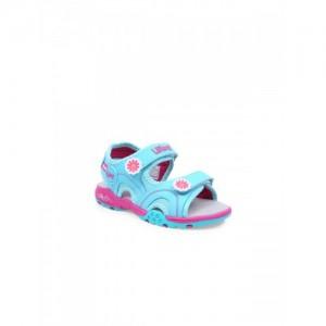 b854fc9b070 Lilliput Girls Turquoise Blue Sports Sandals